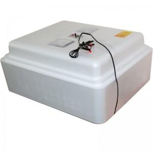 Инкубатор с аналоговым терморегулятором, цифровой индикацией, на 77 яиц, механический переворот, 12В